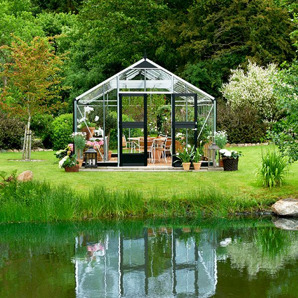 Serre Verre Gardener Aluminium 21 4 M 5 83 X 3 68 X 2 87 M Serre Jardin Serre En Verre Serre