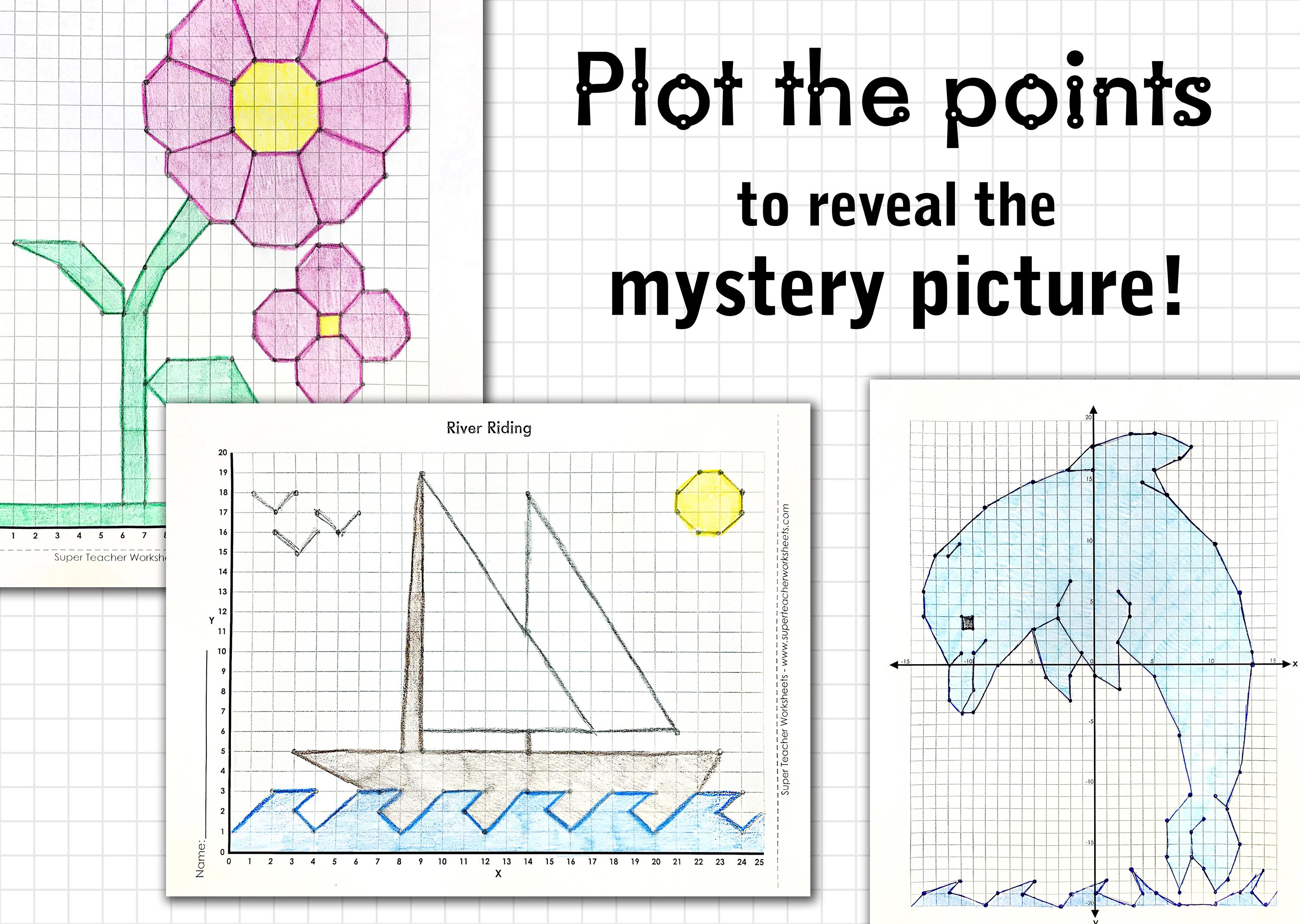 Make It A Point To Check Out The Mathmysterygraphs On Superteacherworksheets Students Will Fun Math Worksheets Graphing Activities Plotting Points Activity [ 2134 x 3000 Pixel ]