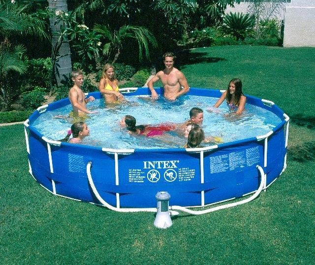 Intex 12 X 30 Metal Frame Pool W Cartridge Filter Pump Inflatable Swimming Pool Intex In Ground Pools