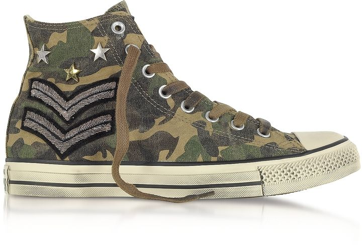 43fef0a9b658 Converse Limited Edition Chuck Taylor All Star High Military Patchwork Canvas  LTD Unisex Sneakers
