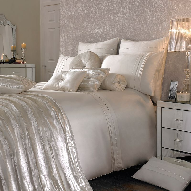 Buy Kylie Minogue at Home Fortini Duvet Cover, Ivory online at