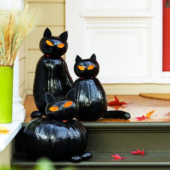 Instructions For Cute Black Cat Pumpkins Halloween Pumpkin Crafts Halloween Inspiration Diy Halloween Decorations