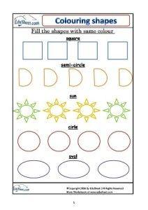 Coloring Shapes Printable Edusheet Com Shapes Color Printables