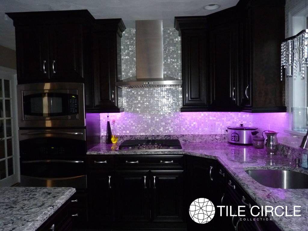 Mother Of Pearl White 1 X 1 Squares Tile Purple Home Decor Gothic Kitchen Purple Kitchen