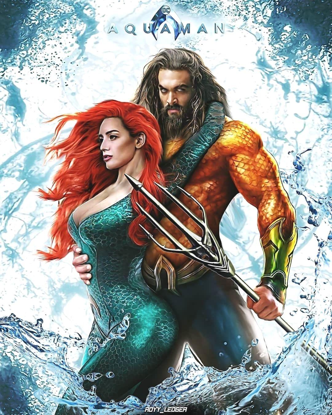 Aquaman Jason Momoa Mera Aquaman S Wifey Amber Heard: AQUAMAN And MERA 🦈🐳🦑 By Royy Ledger @royy_ledger #Aquaman