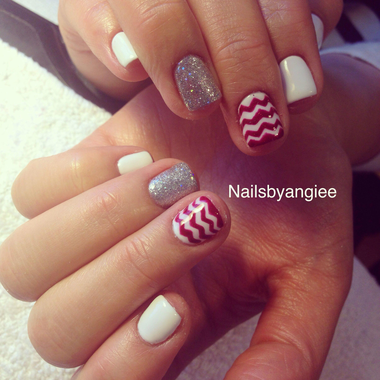 Holiday Gel Nail Designs: Gel Nail Design#idea#christmas#nailart