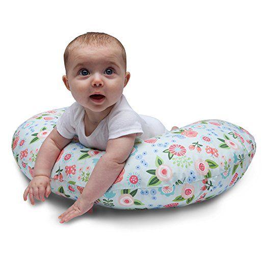 Amazon Com Boppy Pillow Slipcover Blue Classic Fresh Flowers