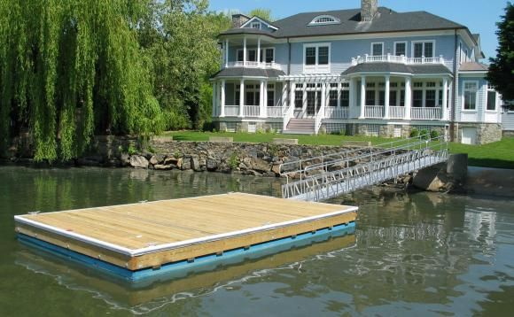 Marine Gangway connecting to floating dock | GI | Floating