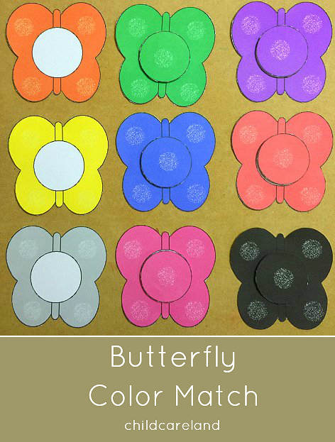 Butterfly Color Match Great For Toddlers And Preschoolers