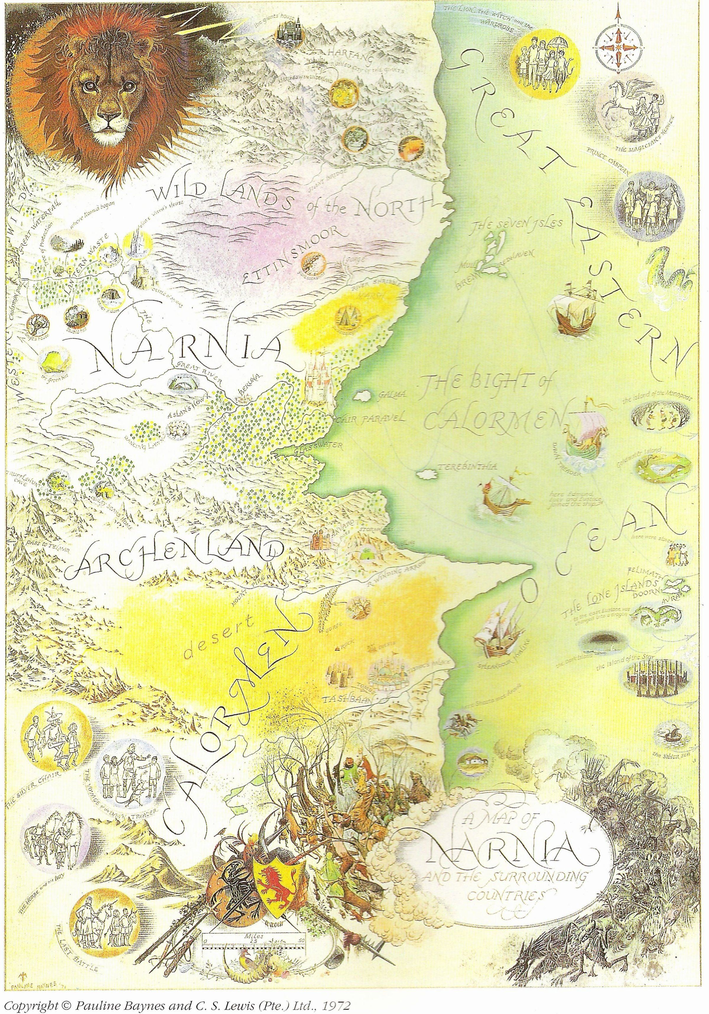 chronicles of narnia map - Google Search   NACIS2015 ...