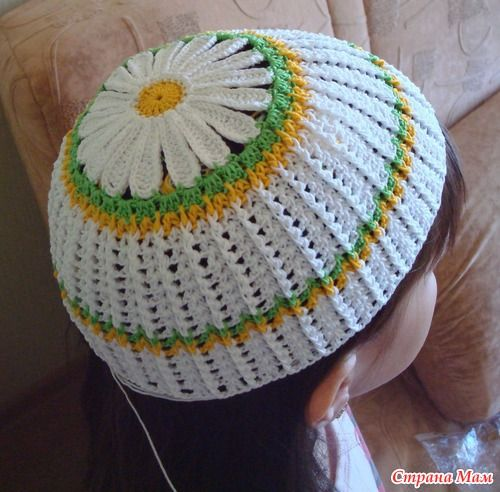 Ромашковая панамка для девочек. | Идеи для вязания ...