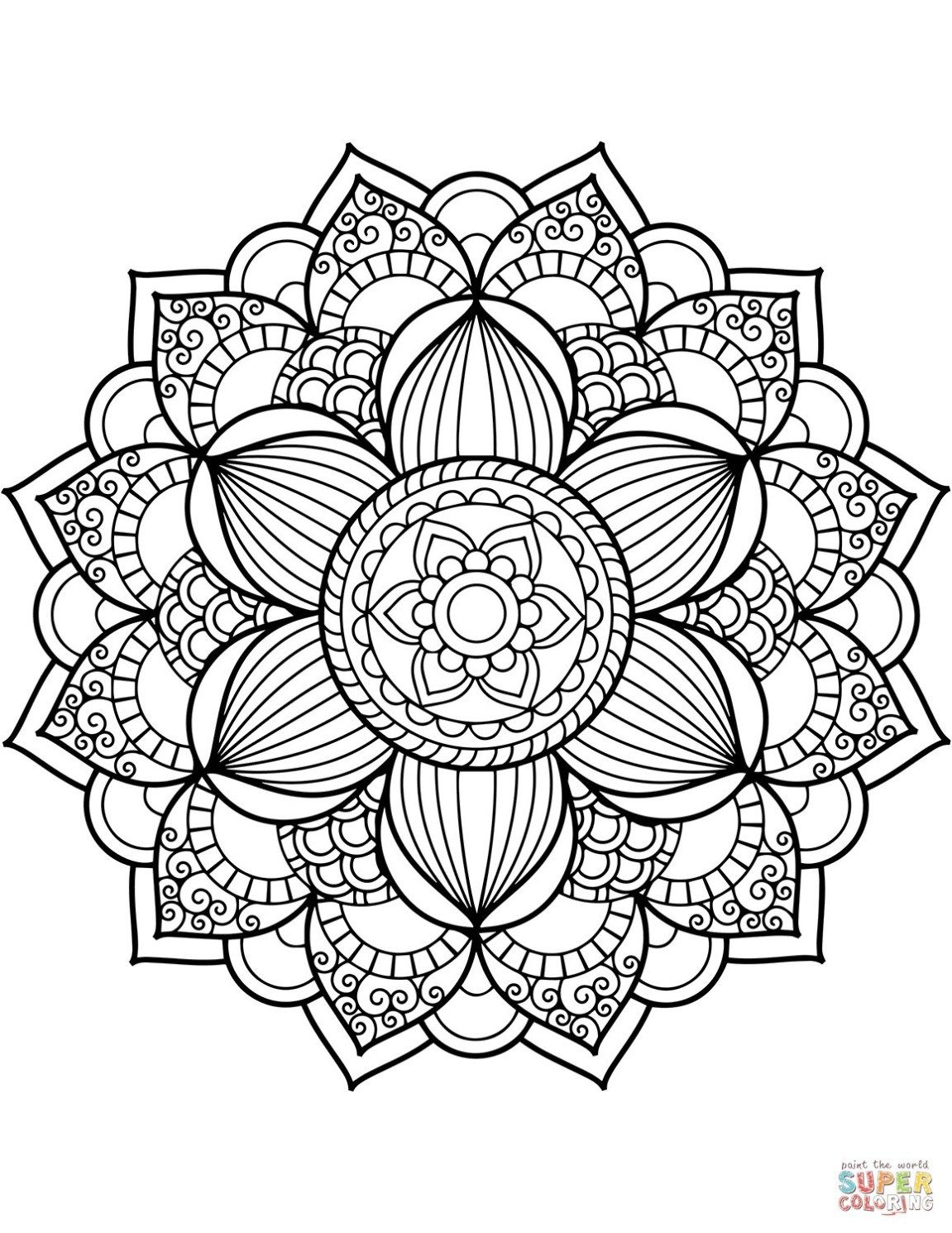 27 Wonderful Picture Of Flower Adult Coloring Pages Mandala