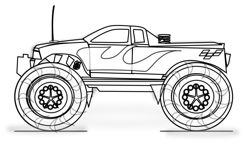 Monster Truck Printable Coloring Pages  digital images
