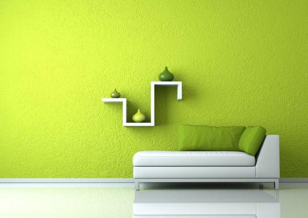 farbidee wohnzimmer minimalistisch lindgrün Wohnzimmer Ideen - wohnzimmer ideen minimalistisch