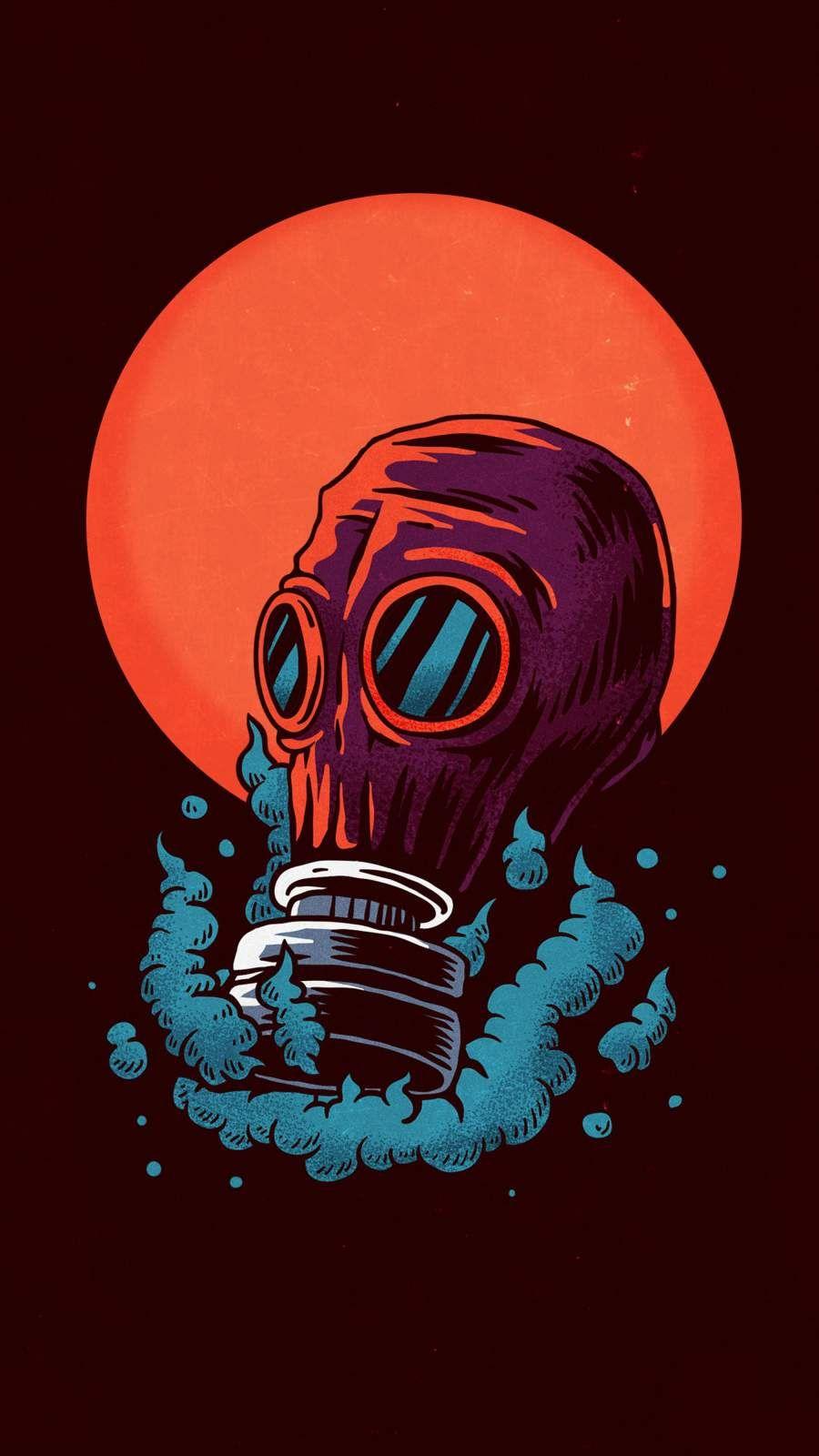 Poison Gas Mask Iphone Wallpaper Gas Mask Art Trap Art Graffiti Wallpaper