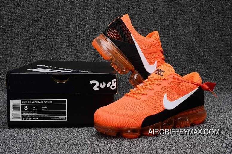 eb48c5f1a0faf 2018 Nike Air Vapormax Flyknit Bright Orange Black New Release