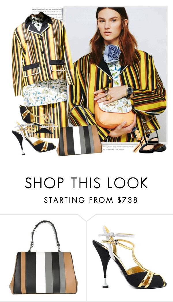 """Prada Spring 2016"" by sella103 ❤ liked on Polyvore featuring Prada, Yves Saint Laurent and Chanel"