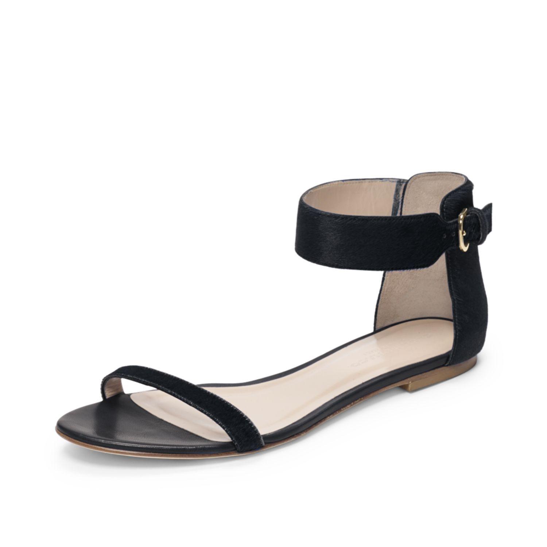 Hayley Calf Hair Sandal Stylish shoes, Shoes too big
