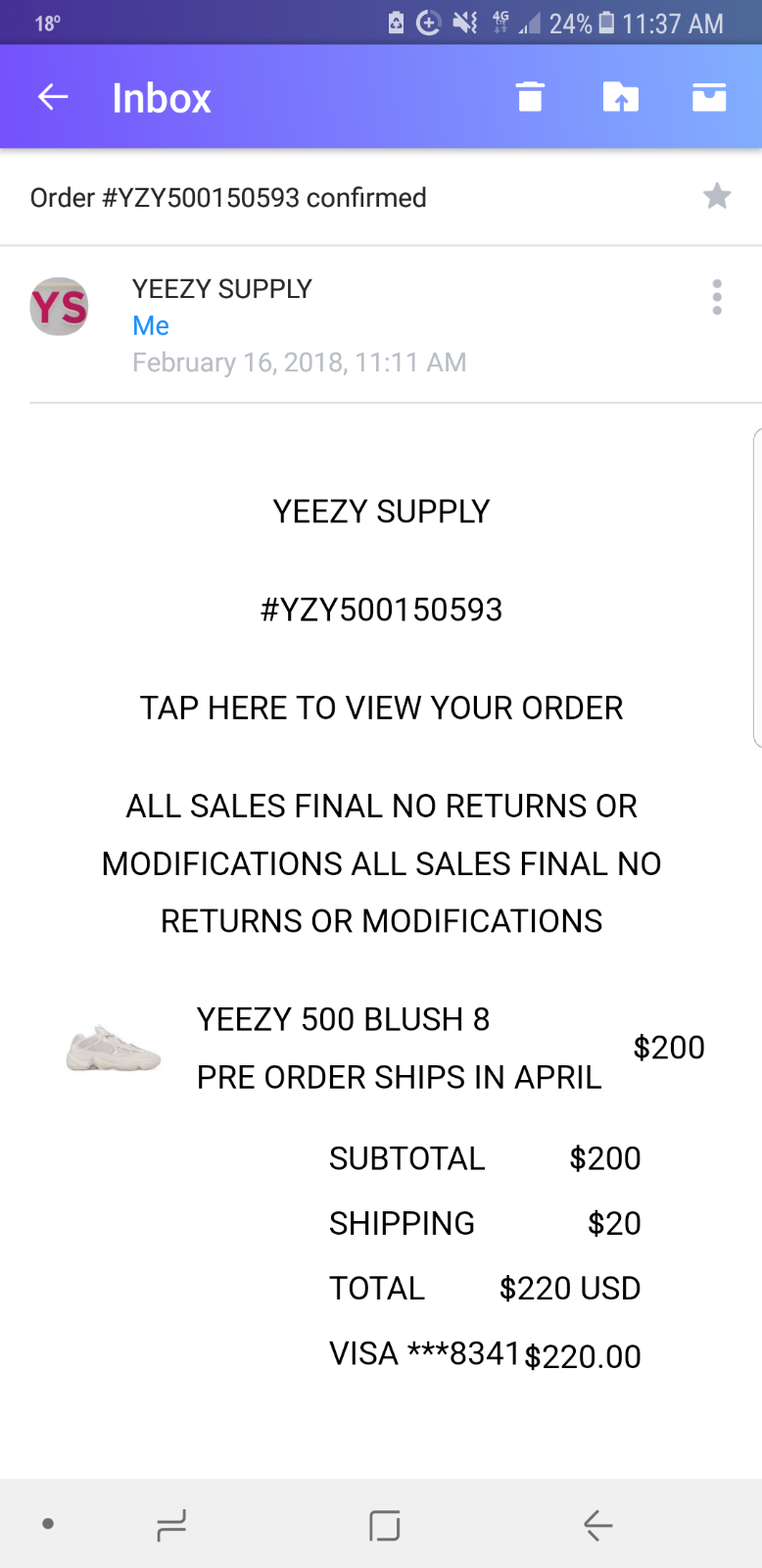 separation shoes 7113d 8d7c5 adidas YEEZY 500 Desert Rat - Blush - CONFIRMED YEEZY SUPPLY ...