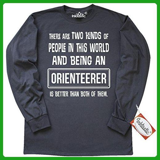 Inktastic Orienteerer Funny Job Gift Long Sleeve T-Shirt XX-Large Charcoal Grey - Funny shirts (*Amazon Partner-Link)