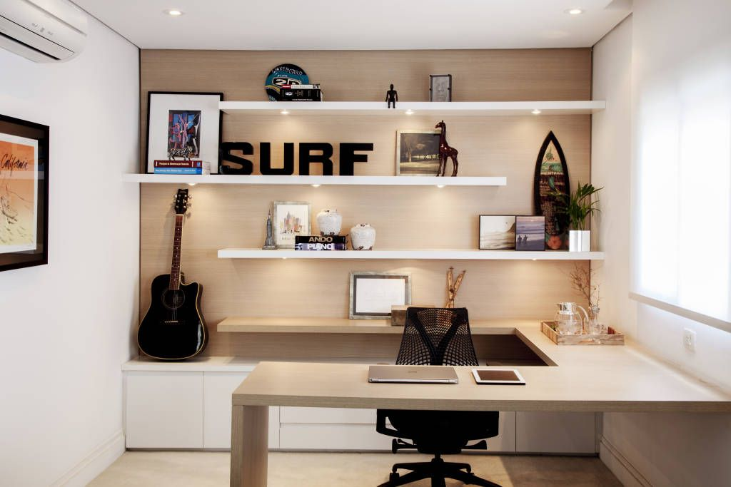 Moderne Studeerkamerkantoor Door Helô Marques Associados