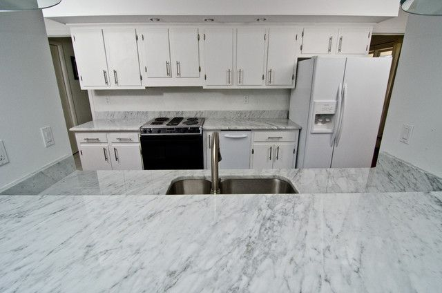 Modern Carrara Kitchen Countertops