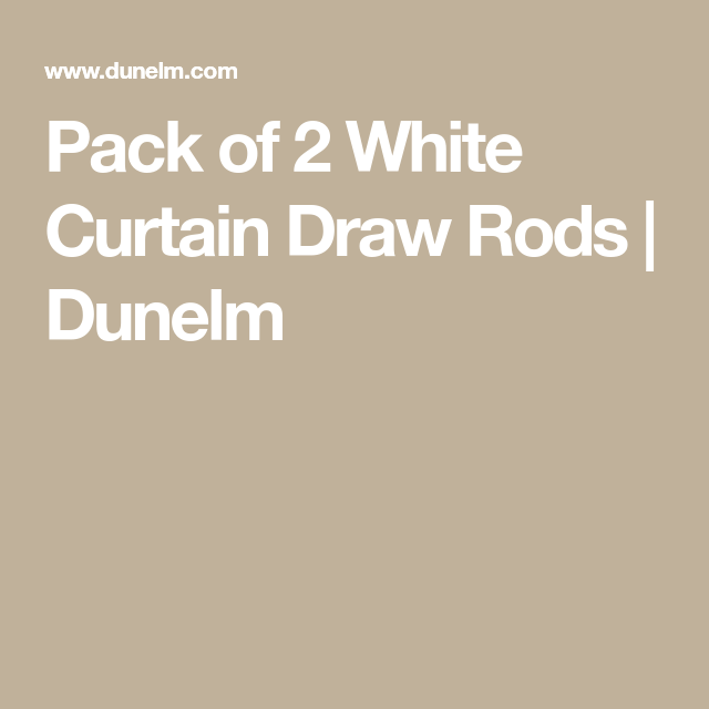 Pack Of 2 White Curtain Draw Rods Curtain Drawing White