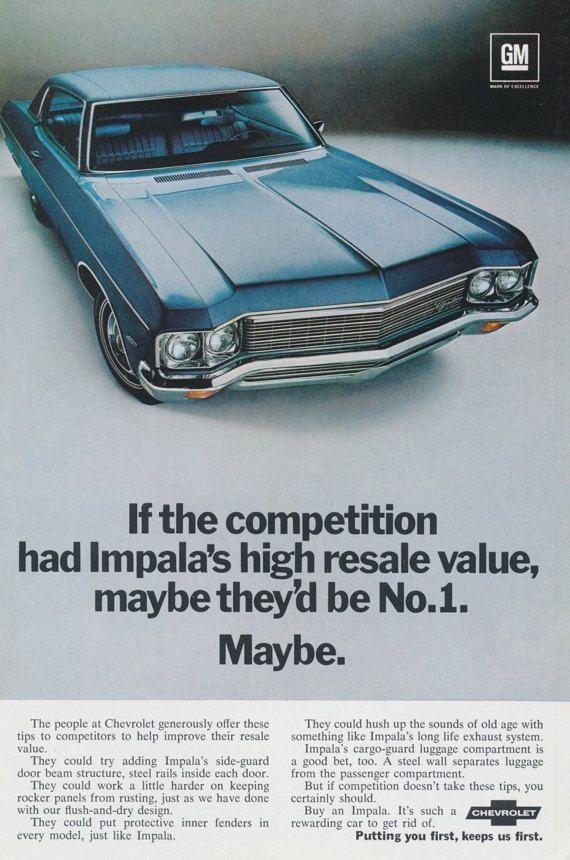 1970 Chevrolet Impala. #chevroletimpala1970 | Car Ads | Pinterest |  Chevrolet, Cars And Chevrolet Chevelle