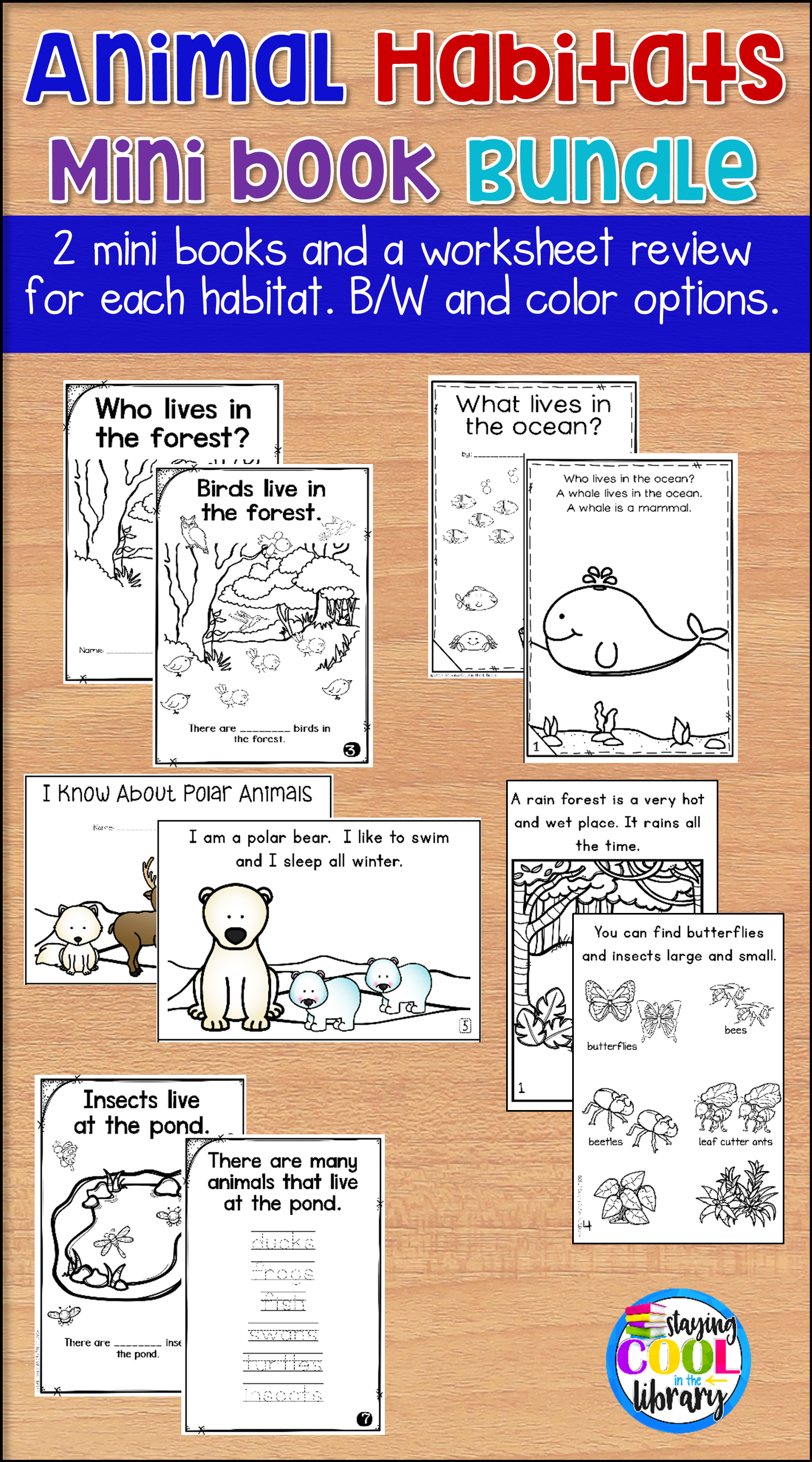 Animal Habitats Mini Books Review 6 Habitats With These Printable Readers And Review Worksheets Habitats Included Pond Mini Books Animal Habitats Habitats [ 2700 x 1500 Pixel ]