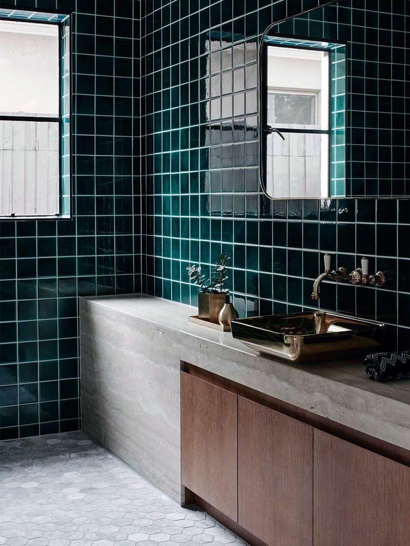 15 Bathrooms With Amazing Tile Flooring With Images Unusual Bathrooms Bathroom Design Green Bathroom