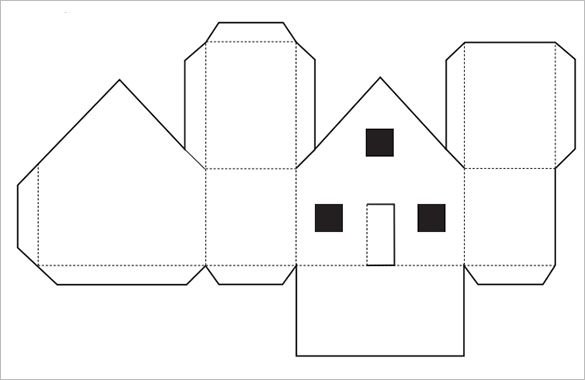 Paper House Template   Free Pdf Documents Download  House