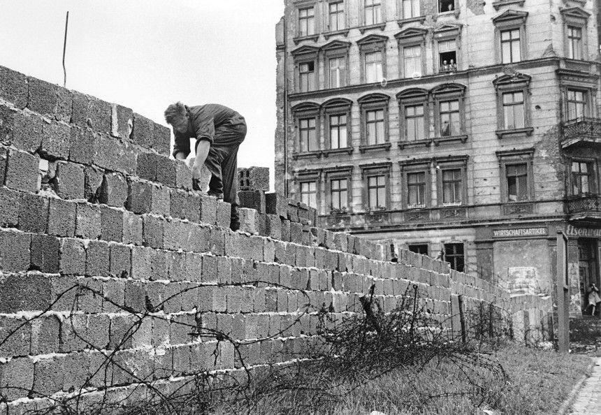 Mauerbau Berlin 1961 Kalter Krieg Mauerbau Berlin Berliner Mauer