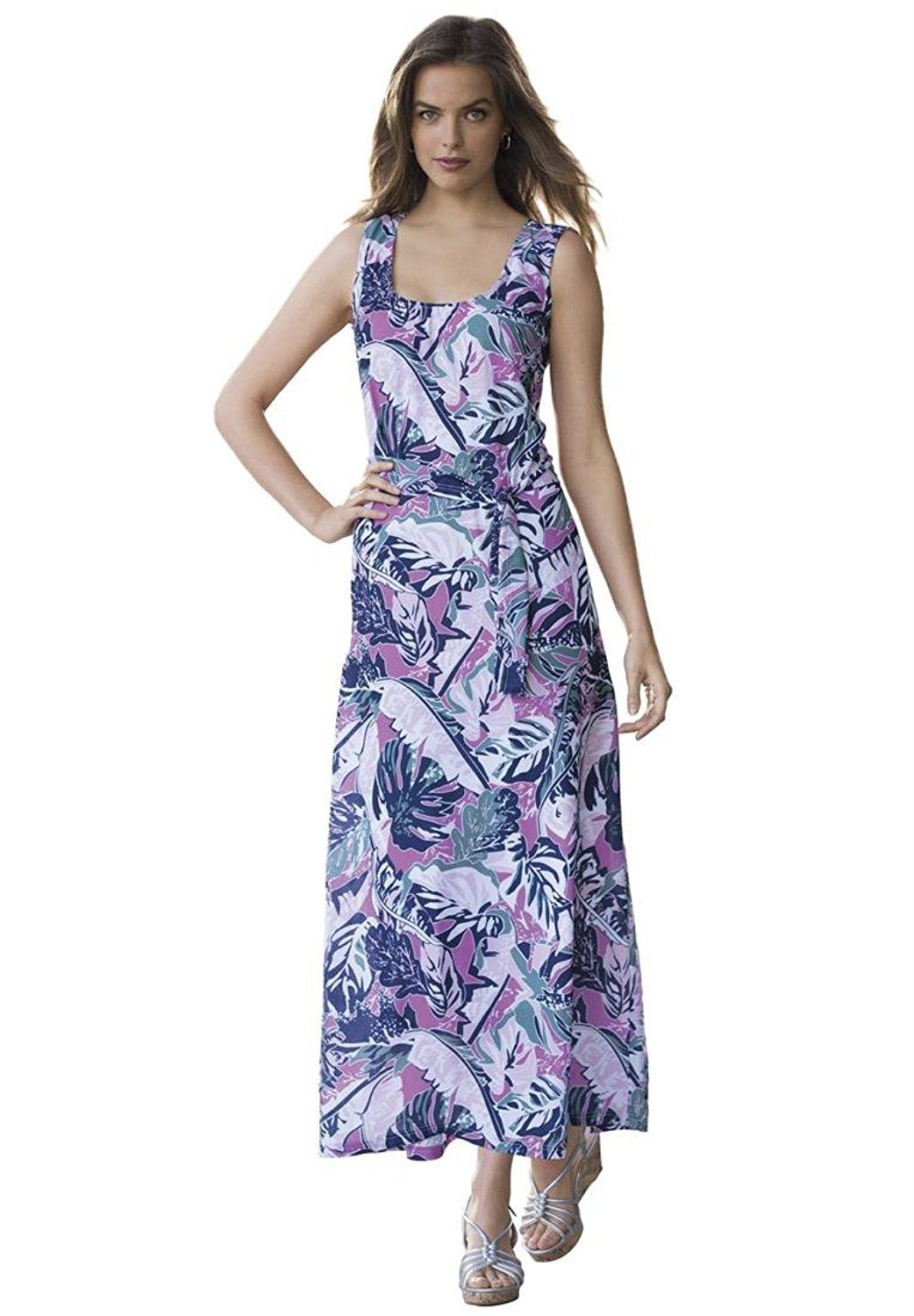 cfc3e25c4a4 Plus Size Jessica London Sleeveless A-Line Maxi Dress -- Discover this  special product