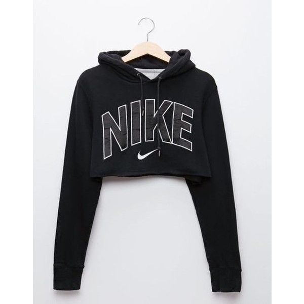 d82f60e6 Cute but psycho cropped hoodie ❤ liked on Polyvore featuring tops, hoodies,  hooded pullover, cut,out crop tops, cropped hoodie, cropped hooded  sweatshirt ...