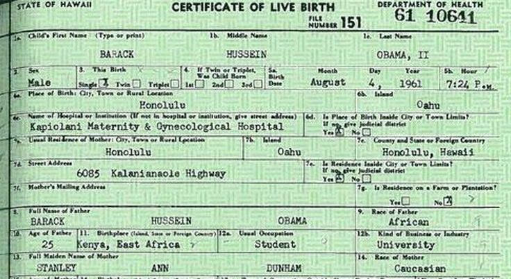 FALSE: Hawaii Official Says No Birth Certificate for President Obama ...