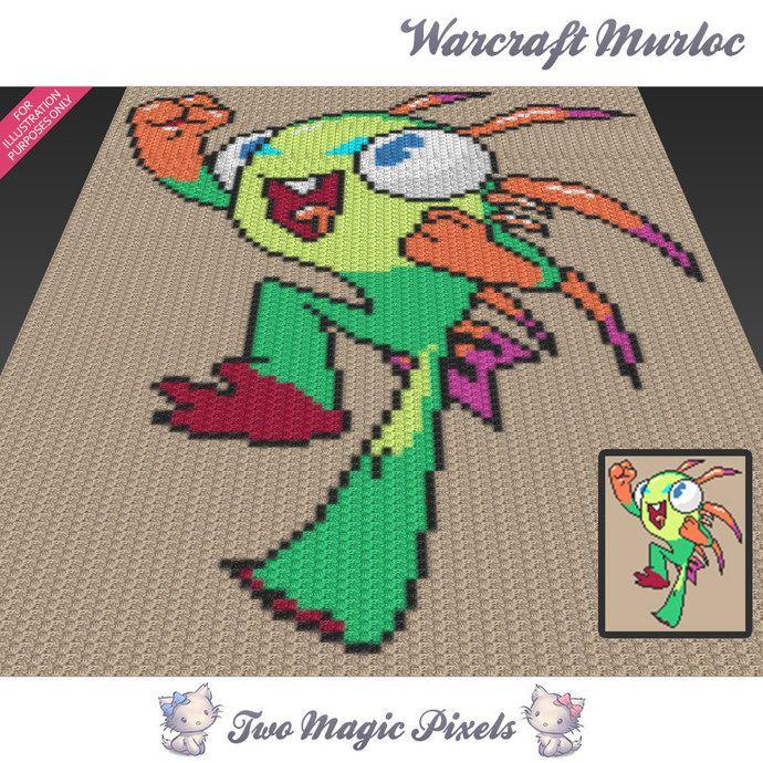 Warcraft Murloc C2c Graph Crochet Pattern Instant Pdf Download