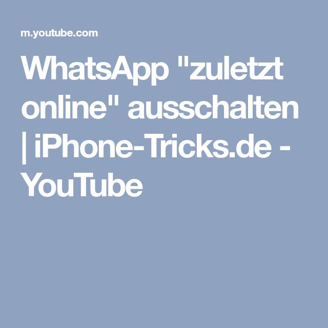 Whatsapp Tricks Zuletzt Online