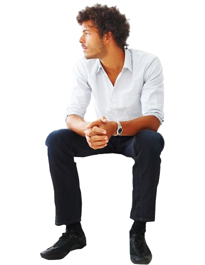 Man Sitting People Cutout People Png People Sitting Png