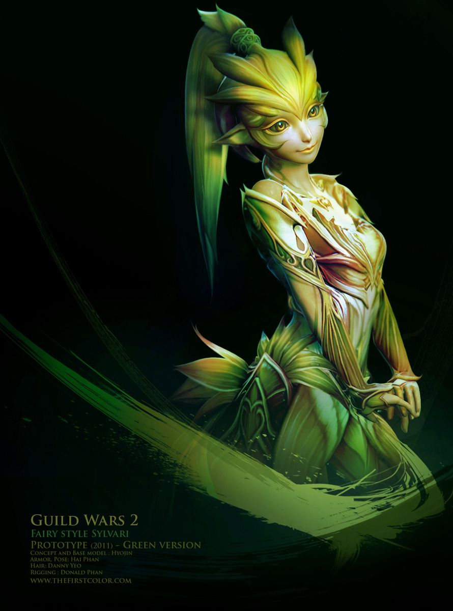 Fairy Style Sylvari Picture Big By Hyojin Ahn Thefirstcolor Guild Wars Character Art Fantasy Characters