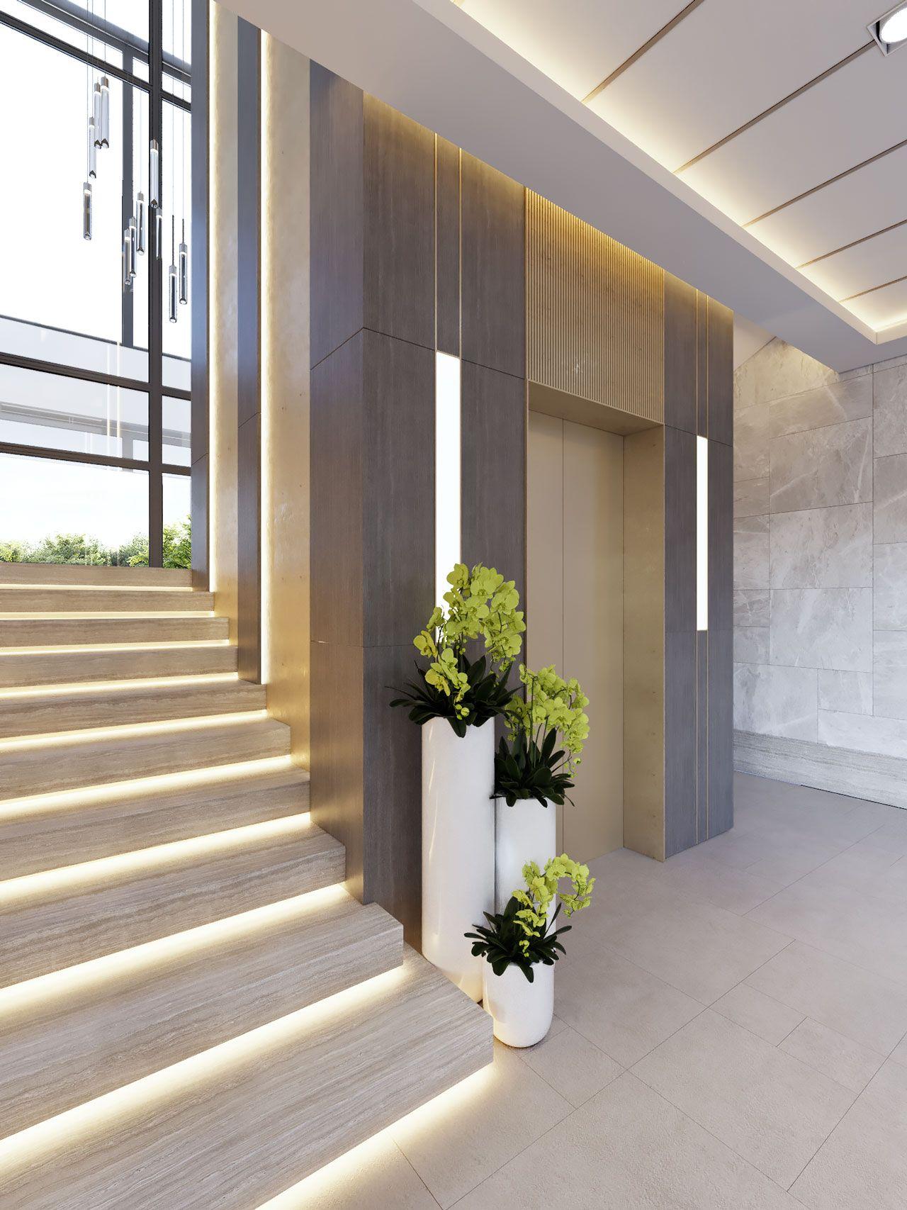 Best Opaal Interiors Manara Villa Elevator Lobby Design 400 x 300