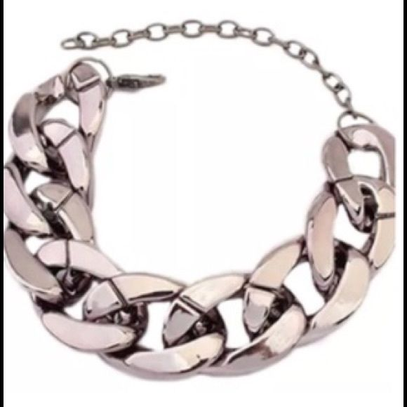 "Chunky Chain Link Bracelet Silver New Chunky Chain Link Bracelet Silver~NEW~6"" with lobster Claw and Extended Chain Jewelry Bracelets"