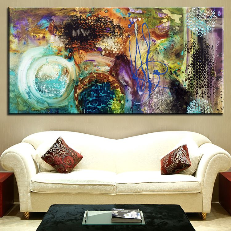 25 creative canvas wall art ideas for living room arte on modern acrylic paintings for living room id=52833