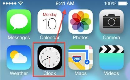New iOS 7 Clock App Icon Now Displays The Real Time Word
