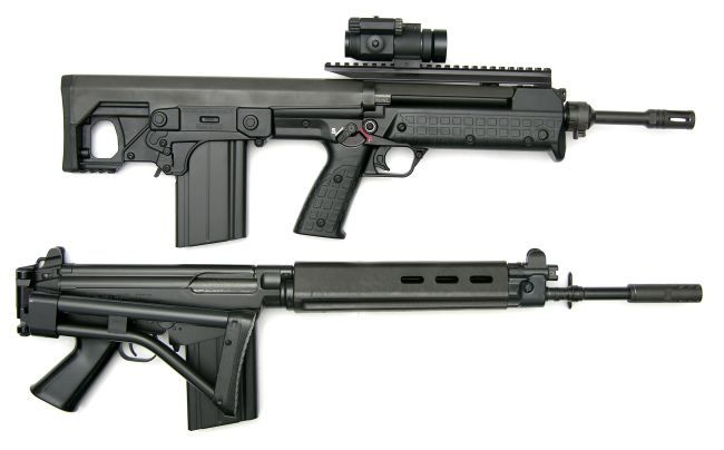 Kel-tec RFB 'Carbine' with 18-inch barrel, 20-round magazine and red