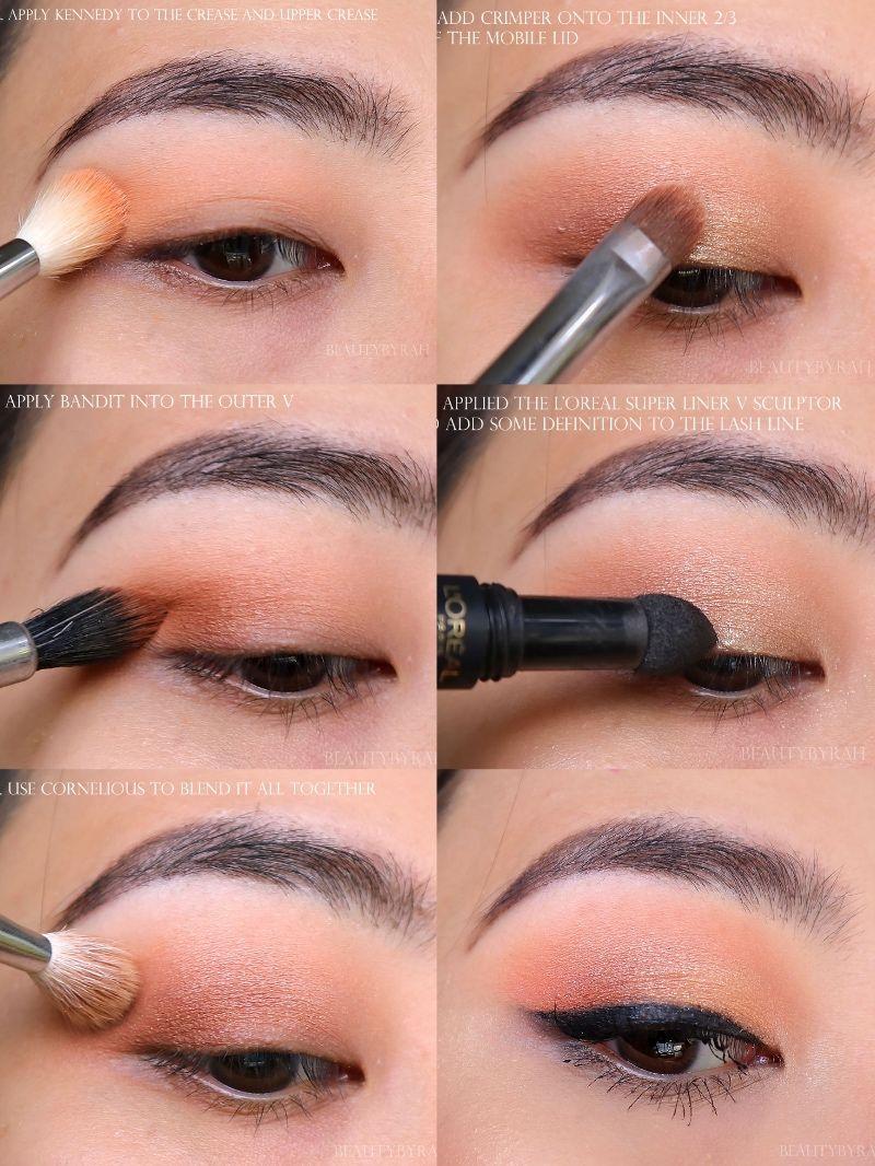 Simple and Easy Peachy Daytime Smokey Eye Makeup Tutorial using the  Colourpop Peachy Keen Eyeshadow Quad