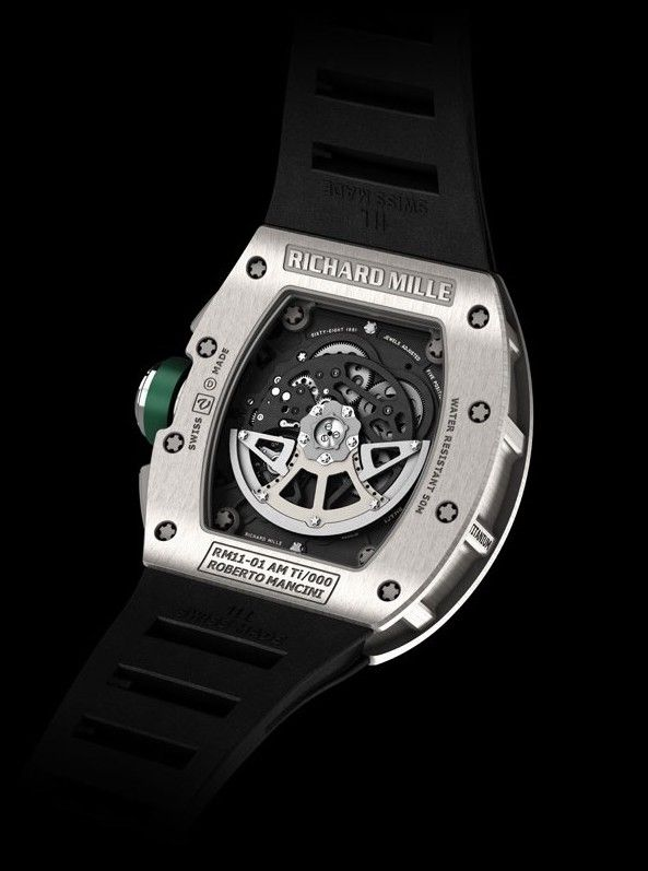 RICHARD MILLE [2014年二手如新] RM 11-01 AUTO FLYBACK CHRONO TITANIUM ROBERTO MANCINI   OUR PRICE 售價: HK$760,000.   Pre-Owned Watch Dated 2014 with Box and Paper Full Set  #richardmille #RM #richard_mille #RM1101 #RM_11_01 #RM_1101 #RM1101Mancini #RM_11_01_Mancini  #RMused #usedRM #RICHARDMILLEused