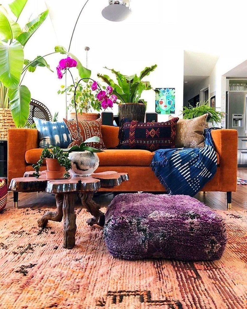 30 Inspiring Bohemian Living Room Ideas For Your Home Bohemian Living Rooms Eclectic Living Room Bohemian Living Room