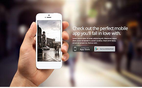 Mobile App Landing Page Templates Landing Pages Pinterest - App landing page template