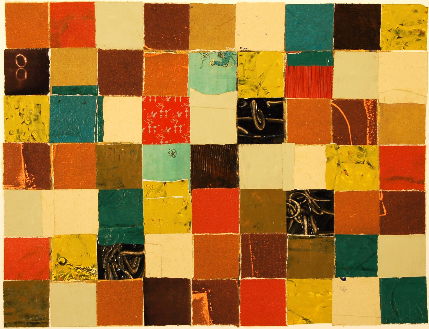 nancy egol nikkal, Color Memory 7 (2010) collage with various papers ...