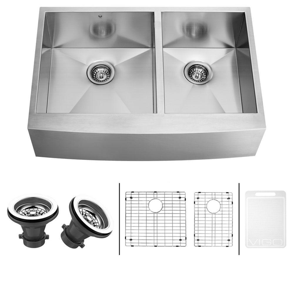 36 inch undermount kitchen sink single bowl vigo 36inch farmhouse stainlesssteel undermount kitchen sink two grids and